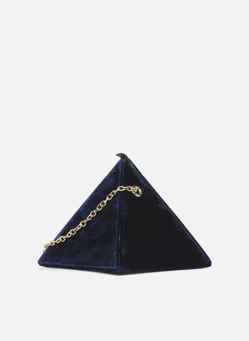 Sacs à main Louvreuse CLEO Bleu vue portées chaussures
