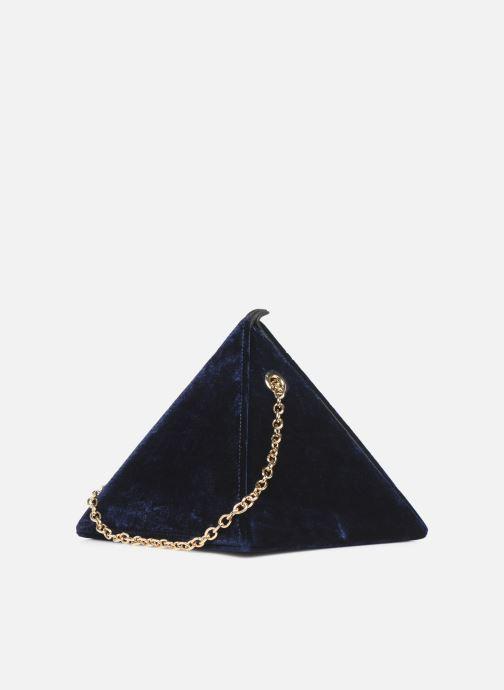 Handtaschen Louvreuse CLEO blau ansicht von rechts