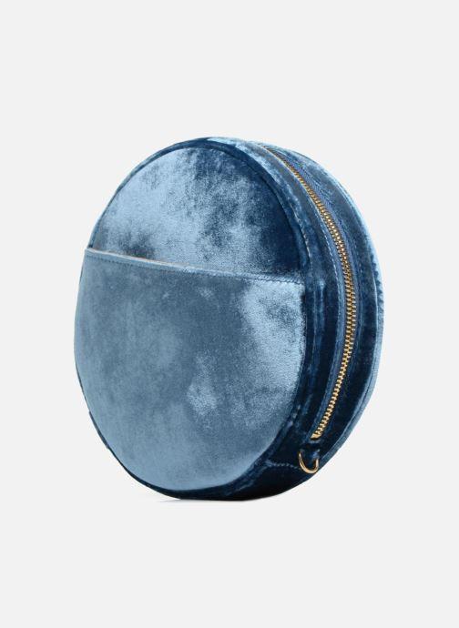 Sacs à main Louvreuse KASIMIR MINI Bleu vue portées chaussures