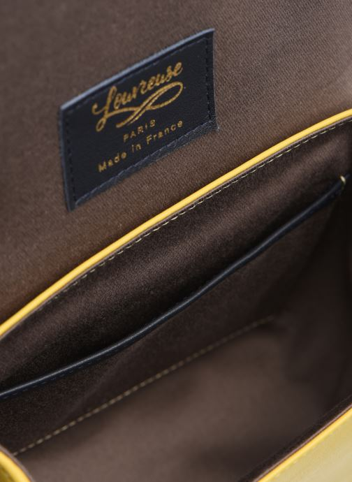 Handtaschen Louvreuse EUGENE gelb ansicht von hinten