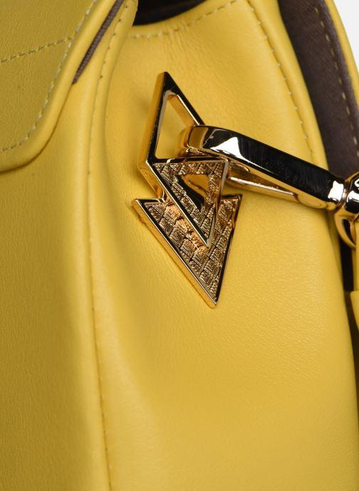 Handtaschen Louvreuse EUGENE gelb ansicht von links