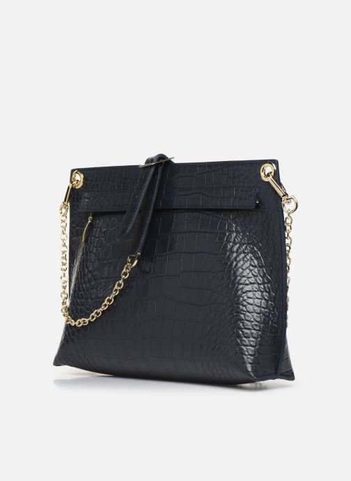 Handbags Louvreuse MILO Blue view from the right
