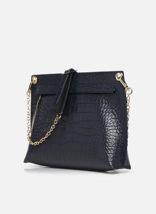 Handtaschen Louvreuse MILO blau ansicht von rechts