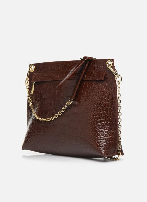 Handbags Louvreuse MILO Brown view from the right