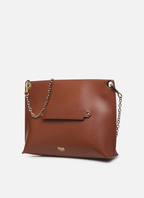 Handtaschen Louvreuse MILO braun schuhe getragen