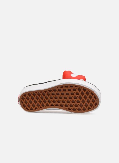 Sneaker Vans Authentic Gore E rot ansicht von oben