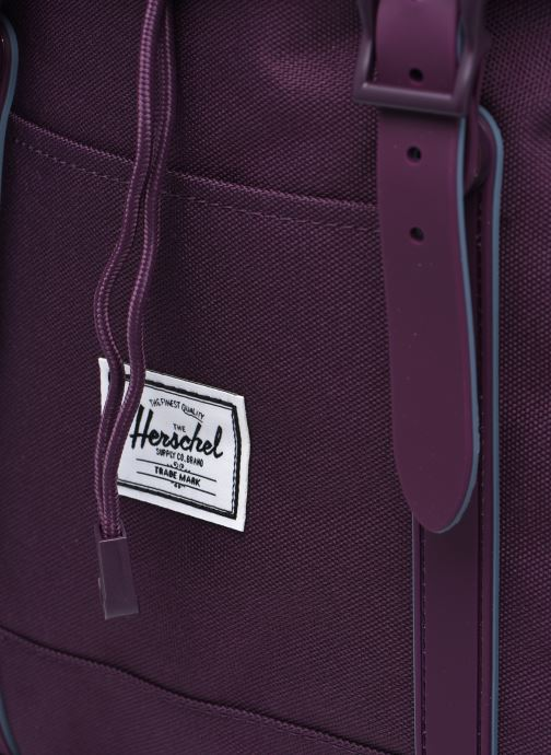 Mochilas Herschel Retreat MV Violeta      vista lateral izquierda