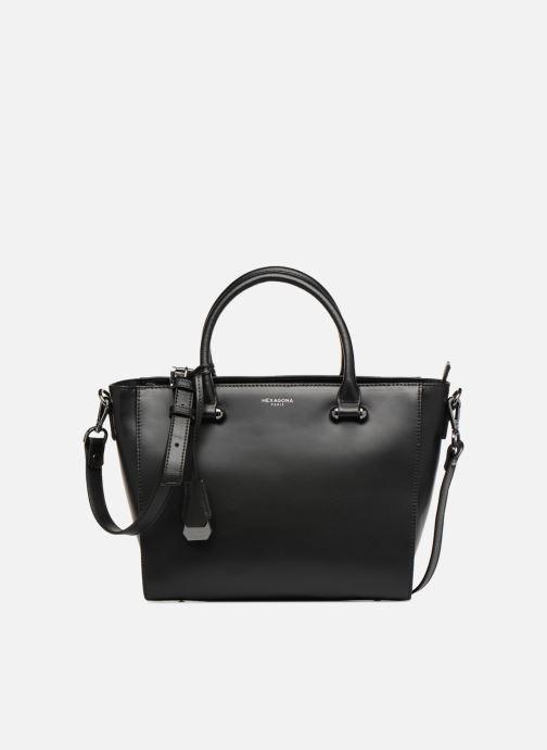 Leather A Borsa Hand Black Hexagona Fqf1v8wy tBw8q0x