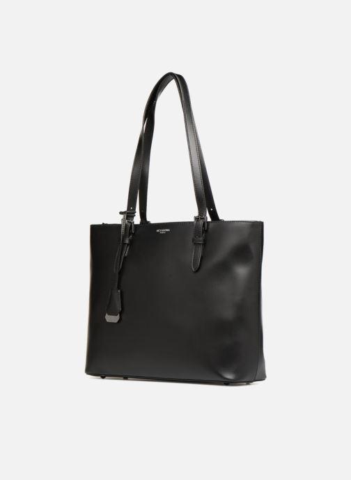 Handtaschen Hexagona ICONE CUIR CABAS ZIPPE schwarz schuhe getragen
