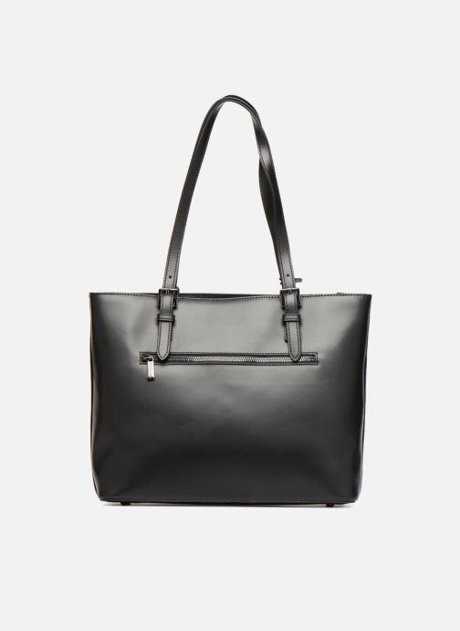 Handtaschen Hexagona ICONE CUIR CABAS ZIPPE schwarz ansicht von vorne