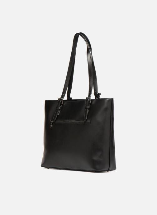 Handtaschen Hexagona ICONE CUIR CABAS ZIPPE schwarz ansicht von rechts