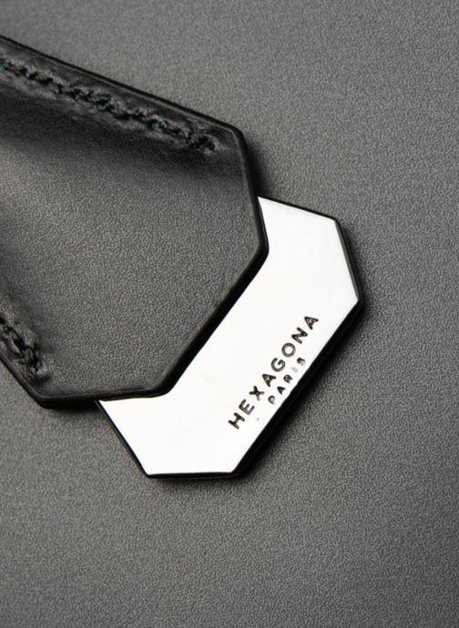 Bolsos de mano Hexagona ICONE CUIR CABAS ZIPPE Negro vista lateral izquierda
