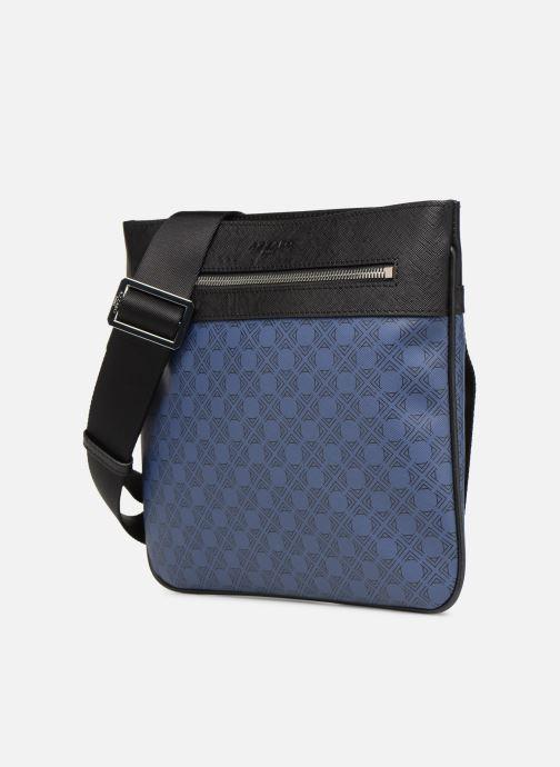 Herrentaschen Azzaro SQUAD CROSSBODY PLAT blau schuhe getragen