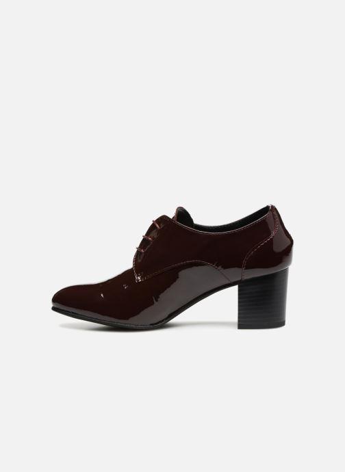 Zapatos con cordones Georgia Rose Lachica Vino vista de frente