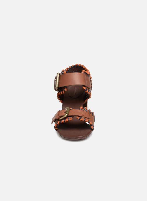 Sandales et nu-pieds See by Chloé Romy High Heel Marron vue portées chaussures