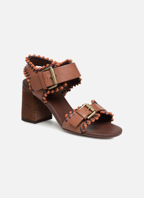 Sandales et nu-pieds See by Chloé Romy High Heel Marron vue détail/paire
