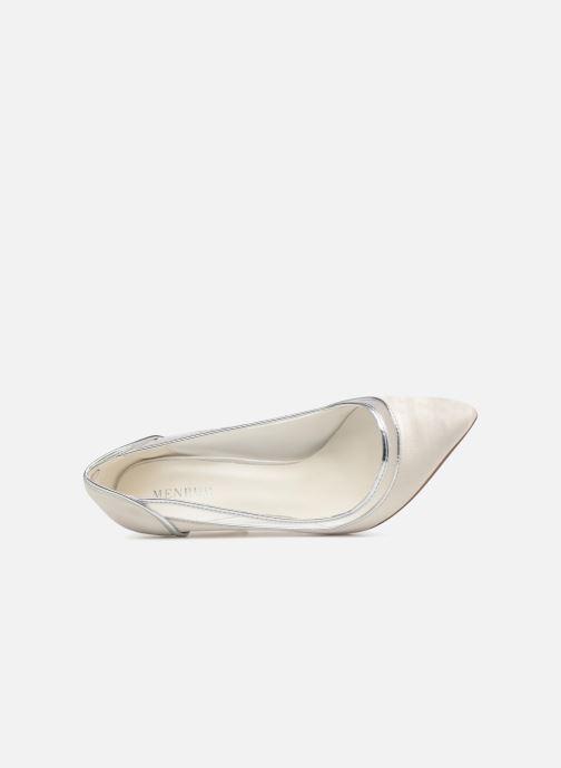 Zapatos de tacón Menbur 7255 Blanco vista lateral izquierda