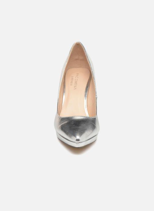 High heels Menbur 7214 Silver model view