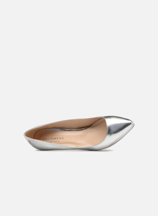 High heels Menbur 7214 Silver view from the left
