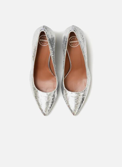 Zapatos de tacón Made by SARENZA 80's Disco Girl Escarpins #3 Plateado vista del modelo