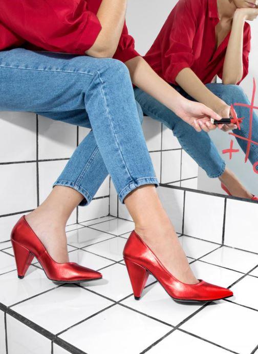 Décolleté Made by SARENZA 80's Disco Girl Escarpins #3 Rosso immagine dal basso