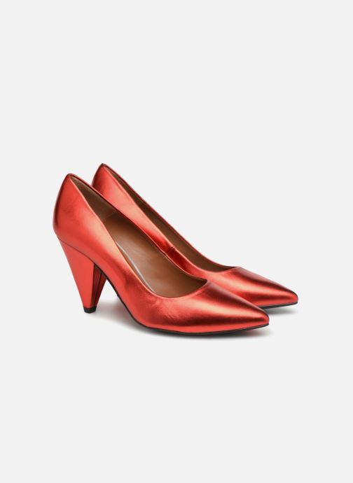High heels Made by SARENZA 80's Disco Girl Escarpins #3 Red back view