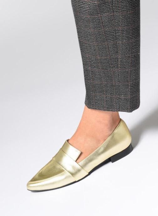 Slipper Made by SARENZA Busy Girl Mocassin #4 gold/bronze ansicht von unten / tasche getragen