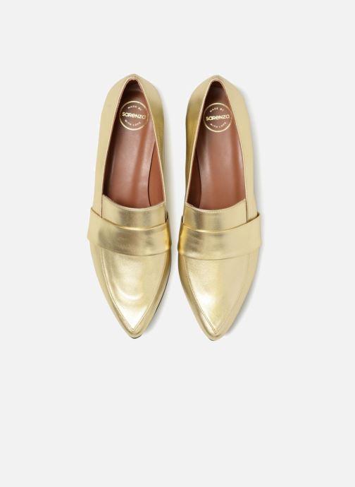 Slipper Made by SARENZA Busy Girl Mocassin #4 gold/bronze schuhe getragen