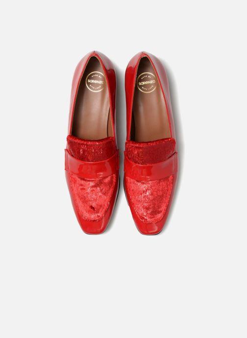 Mocassini Made by SARENZA 80's Disco Girl Mocassin #3 Rosso modello indossato