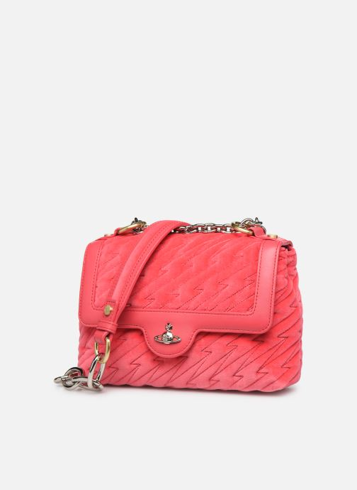 Sacs à main Vivienne Westwood Coventry Medium Handbag Rose vue portées chaussures
