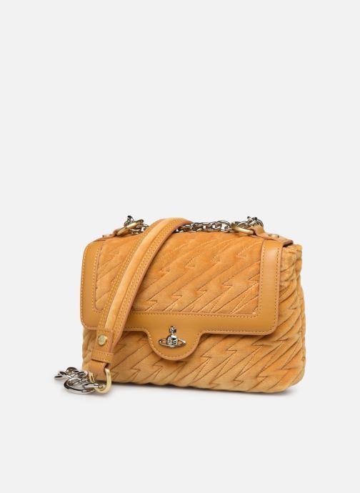 Sacs à main Vivienne Westwood Coventry Medium Handbag Jaune vue portées chaussures
