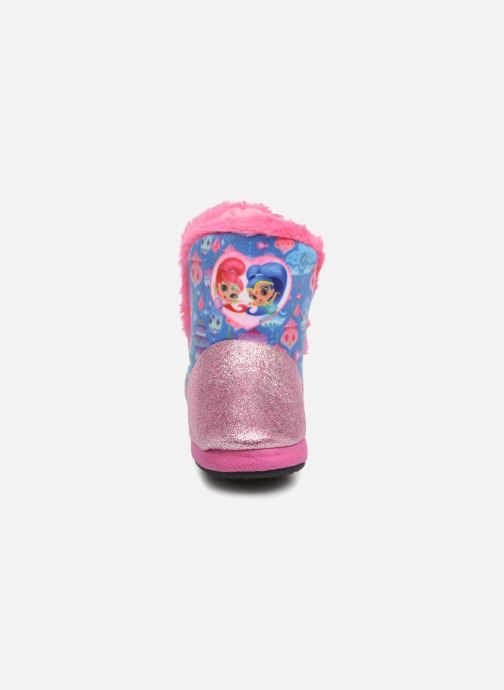 Pantofole Shimmer & Shine Sigrid Rosa modello indossato