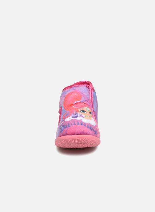 Pantofole Shimmer & Shine Savana Rosa modello indossato