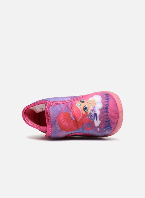 Pantuflas Shimmer & Shine Savana Rosa vista lateral izquierda