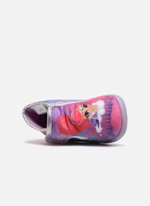 Pantuflas Shimmer & Shine Savana Violeta      vista lateral izquierda