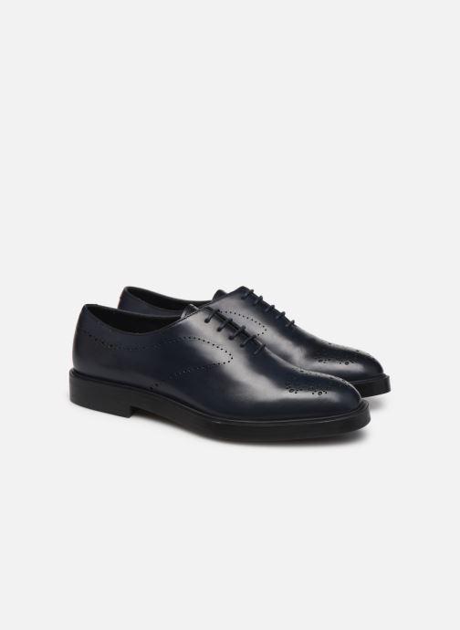 Zapatos con cordones Fratelli Rossetti Lady Pier Derby Azul vista 3/4