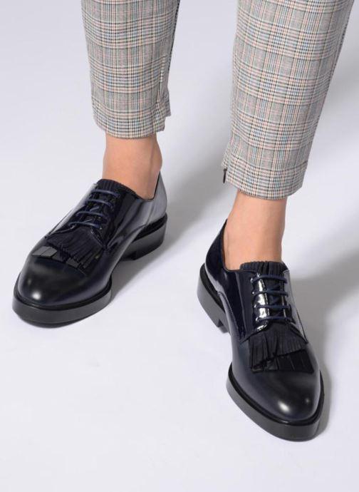 Chaussures à lacets Fratelli Rossetti Lady Pier Derby Bleu vue bas / vue portée sac