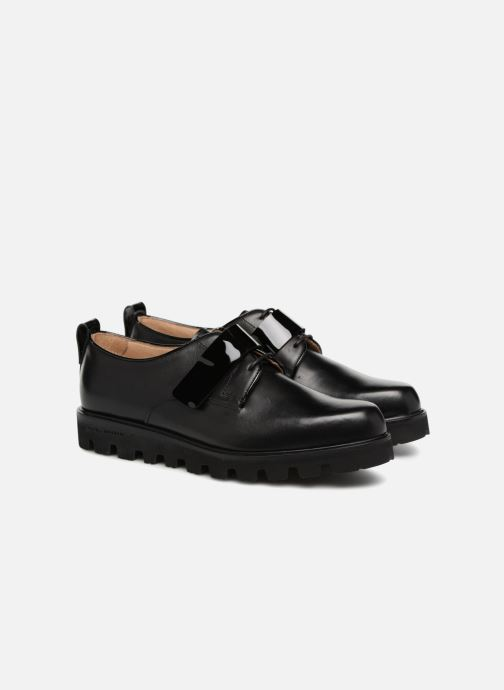 Lace-up shoes Fratelli Rossetti Combo Derby Black 3/4 view