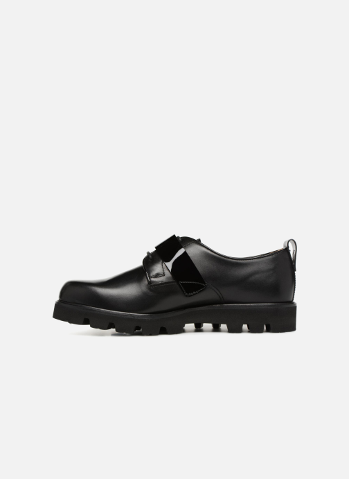Lace-up shoes Fratelli Rossetti Combo Derby Black front view