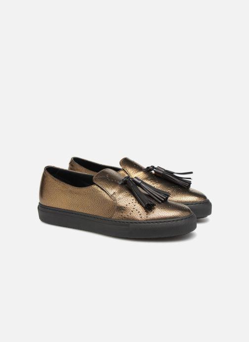 Mocassins Fratelli Rossetti Fashion Sneaker Or et bronze vue 3/4