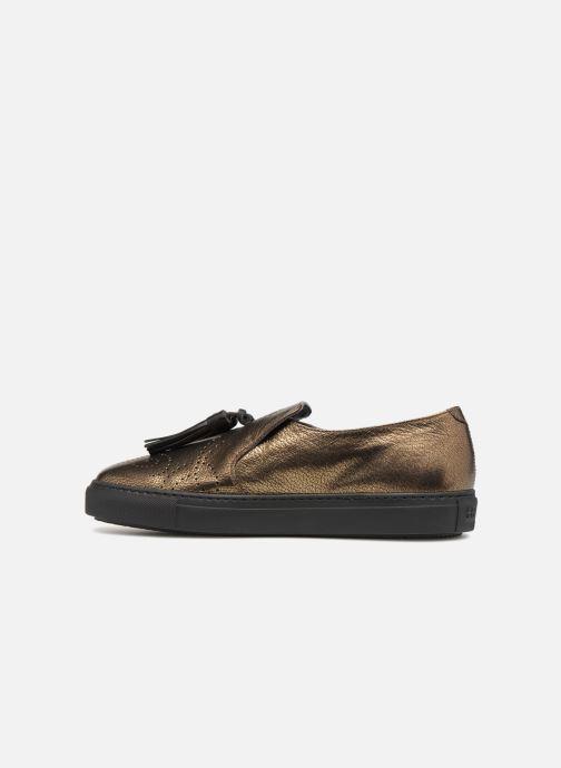 Mocassins Fratelli Rossetti Fashion Sneaker Or et bronze vue face