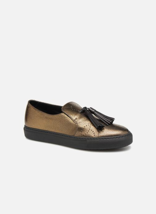 Mocassins Fratelli Rossetti Fashion Sneaker Or et bronze vue détail/paire