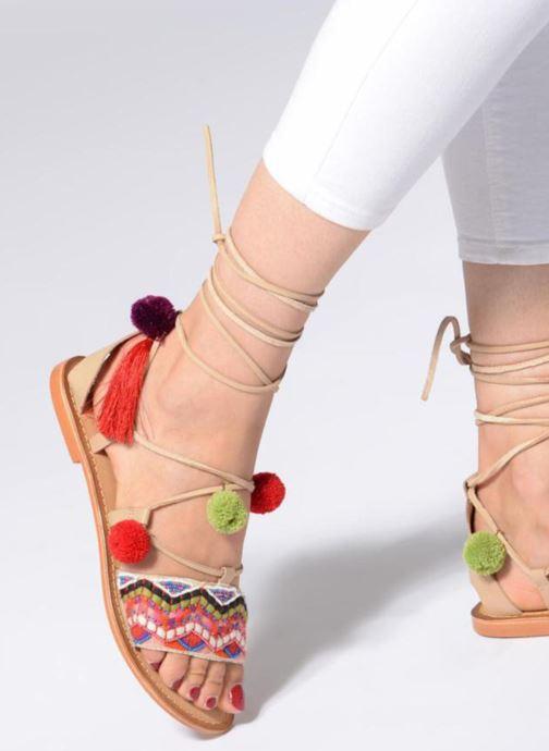 Sandalen Vero Moda Lia Leather Sandal mehrfarbig ansicht von unten / tasche getragen