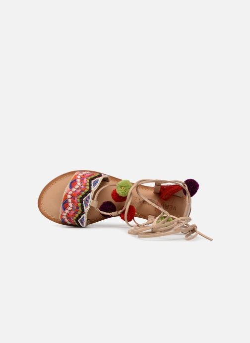 Sandales et nu-pieds Vero Moda Lia Leather Sandal Multicolore vue gauche