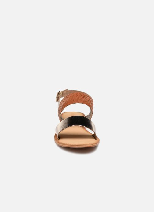 Sandales et nu-pieds Vero Moda Pinota Leather Sandal Marron vue portées chaussures