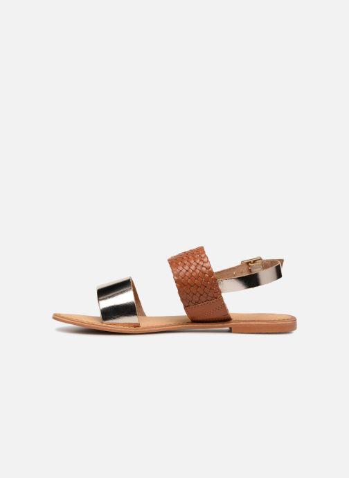 Sandales et nu-pieds Vero Moda Pinota Leather Sandal Marron vue face