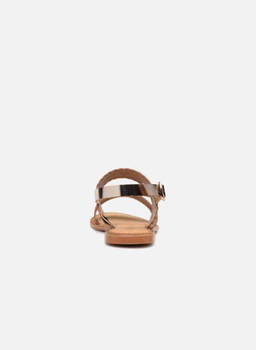 Sandales et nu-pieds Vero Moda Pinota Leather Sandal Marron vue droite