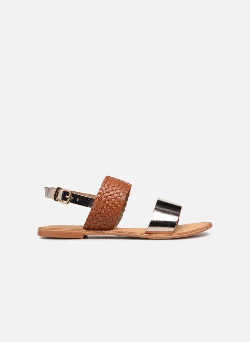 Sandales et nu-pieds Vero Moda Pinota Leather Sandal Marron vue derrière