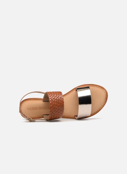 Sandales et nu-pieds Vero Moda Pinota Leather Sandal Marron vue gauche