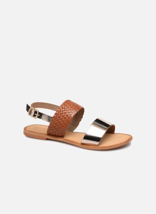 Sandales et nu-pieds Vero Moda Pinota Leather Sandal Marron vue détail/paire